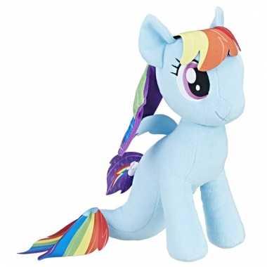 Blauw my little pony zeepaardje knuffel rainbow dash