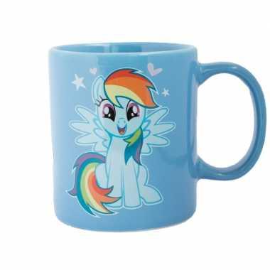 Blauwe my little pony mok/drinkbeker rainbow dash ml