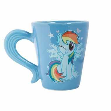 Blauwe my little pony staart mok/drinkbeker rainbow dash ml