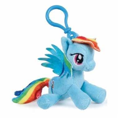 Blauwe my little pony tashanger knuffeltjes