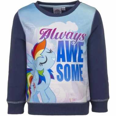 Blauwe my little pony trui twilight sparkle