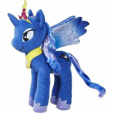 Cartoon knuffels blauwe pony luna my little pony