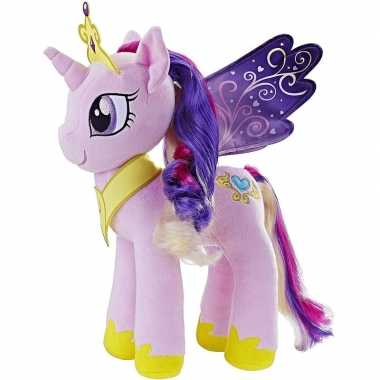 Cartoon knuffels lila/paarse pony cadance my little pony