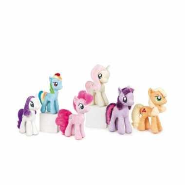 Cartoon knuffels wit/paarse pony rarity my little pony
