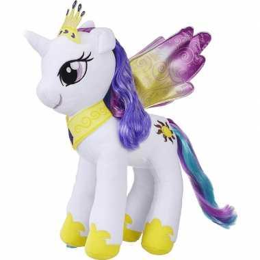 Cartoon knuffels witte/paarse pony celestia my little pony