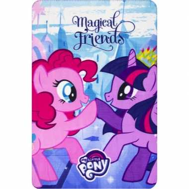 My little pony friends fleece deken/plaid meisjes