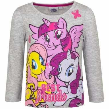 My little pony shirt grijs lange mouwen