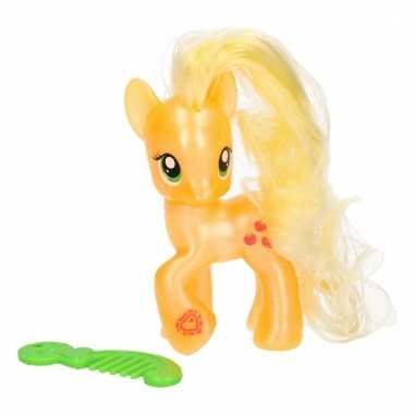 Oranje my little pony speelfiguur applejack kam