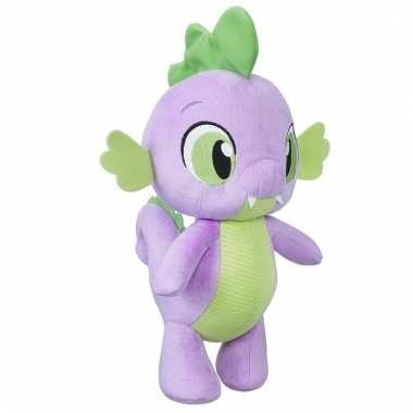 Paarse my little pony draak knuffel spike