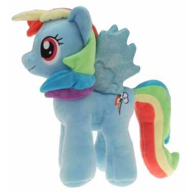 Pluche blauwe my little pony rainbow dash knuffel speelgoed