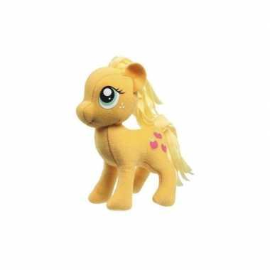 Pluche my little pony applejack speelgoed knuffel oranje