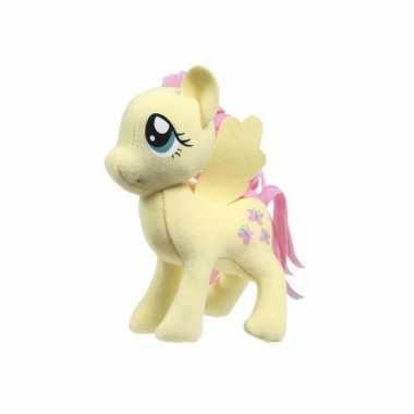 Pluche my little pony fluttershy speelgoed knuffel geel