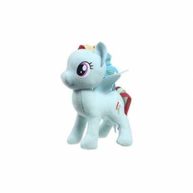 Pluche my little pony rainbow dash speelgoed knuffel blauw