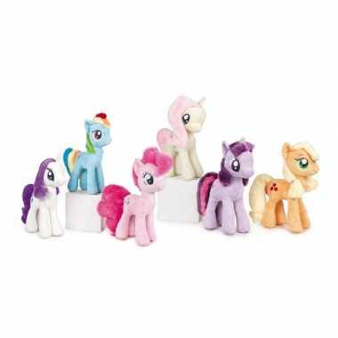 Pluche oranje my little pony applejack knuffel speelgoed