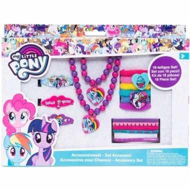 X my little pony haaraccessoires/sieraden set meisjes