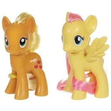 X my little pony speelfiguren set applejack/fluttershy