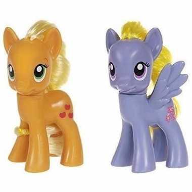 X my little pony speelfiguren set applejack/lily blossom