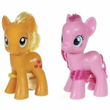 X my little pony speelfiguren set applejack/pinkie pie