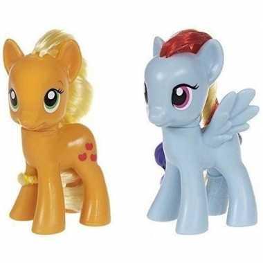 X my little pony speelfiguren set applejack/rainbow dash