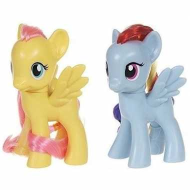 X my little pony speelfiguren set fluttershy/rainbow dash