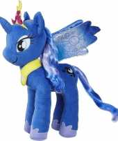 Cartoon knuffels blauwe pony luna my little pony