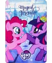 My little pony friends fleece deken plaid meisjes