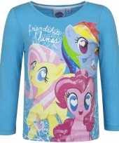 My little pony shirt blauw lange mouwen