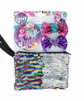 My little pony toilettas set haarclips spiegel